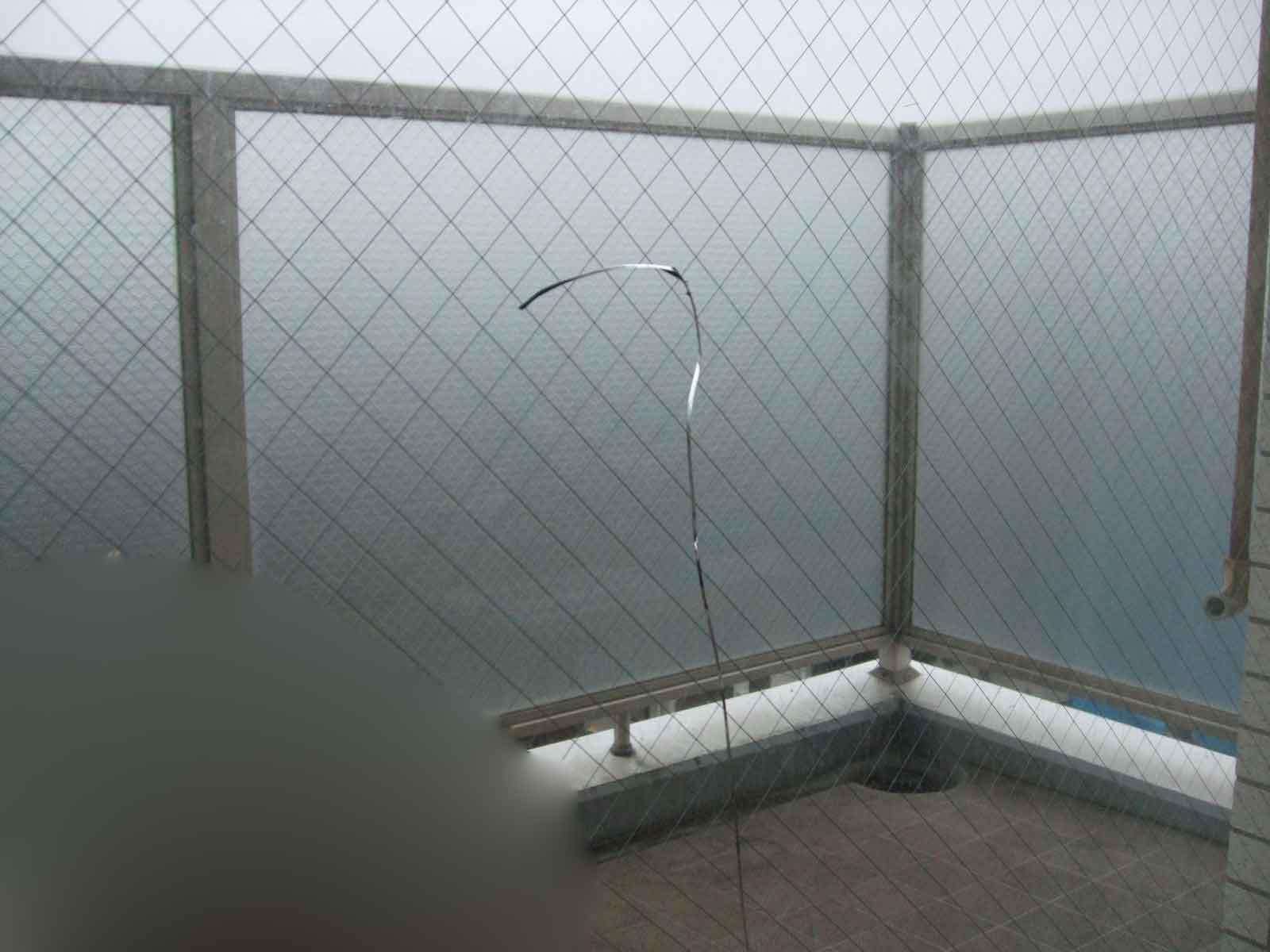 松戸市の網入りガラス割れ