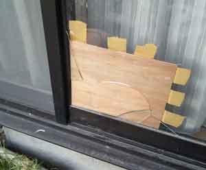 品川区のガラス割れ