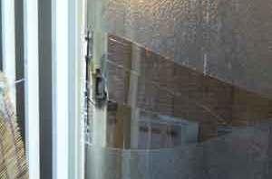 墨田区の空き巣被害の窓ガラス