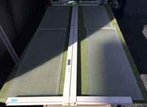浴室折れ戸アクリル板の交換
