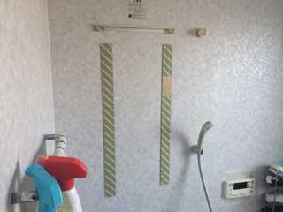 習志野市の浴室鏡取付前