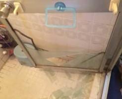 花見川区浴室ドアガラス割れ