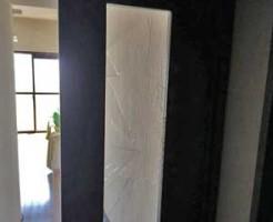 鎌ヶ谷市室内ドアガラス修理前