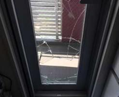 千葉市中央区勝手口ドア修理前