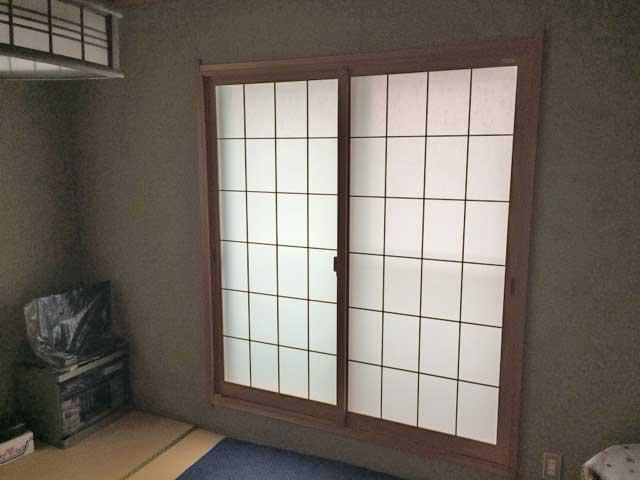 ゆりのき台の和室用二重サッシ