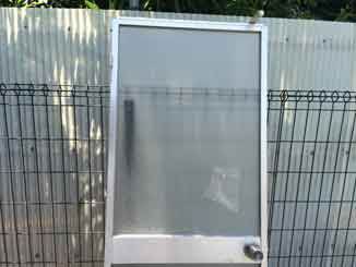 検見川町の浴室アクリル板修理・交換前