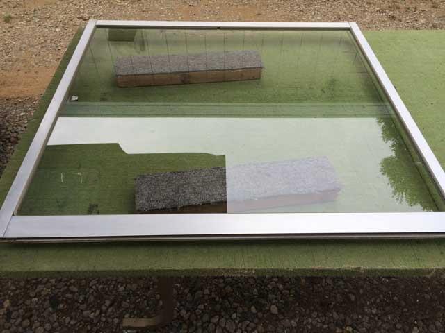 富里市のガラス修理・交換作業後