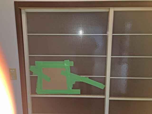 梨地ガラス修理・交換前