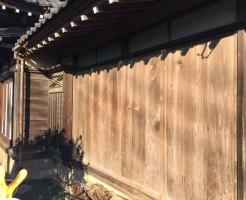木製雨戸交換前