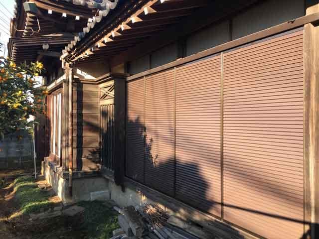 木製雨戸をアルミ製へ交換