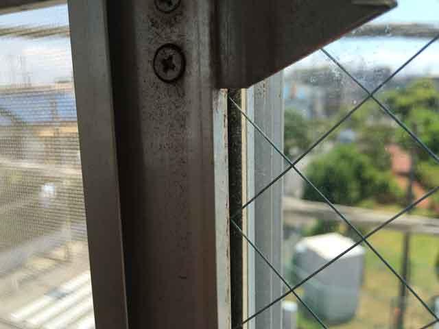 サッシとガラスの隙間を補正
