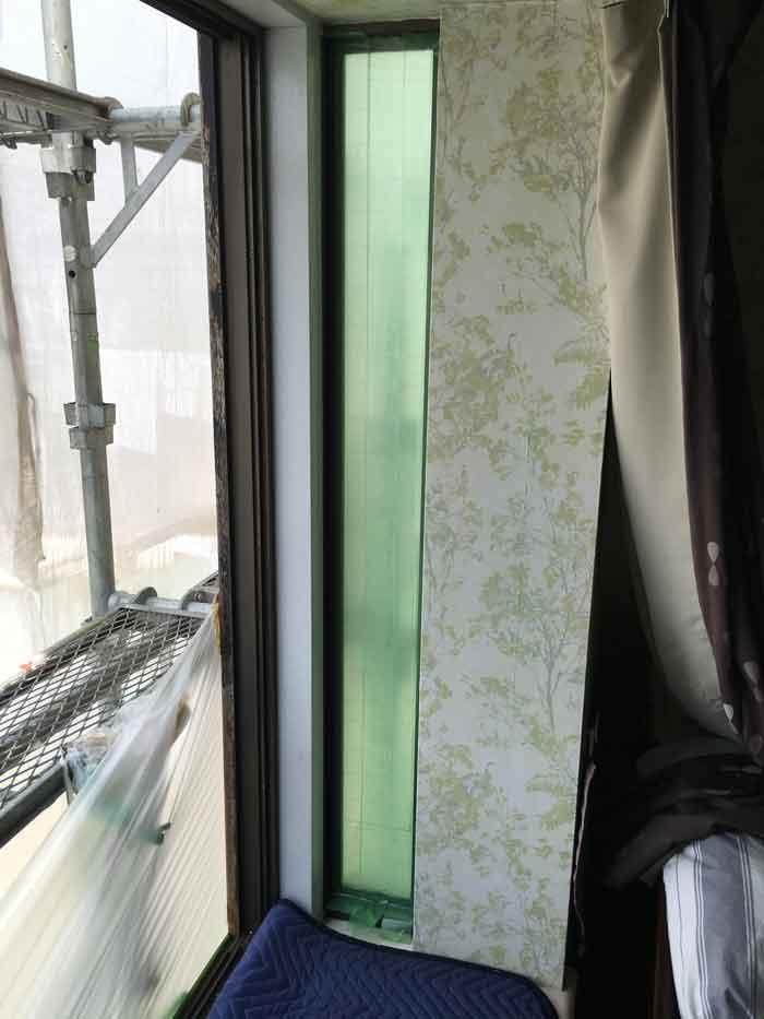 交換前のアタッチメント付ペアガラス