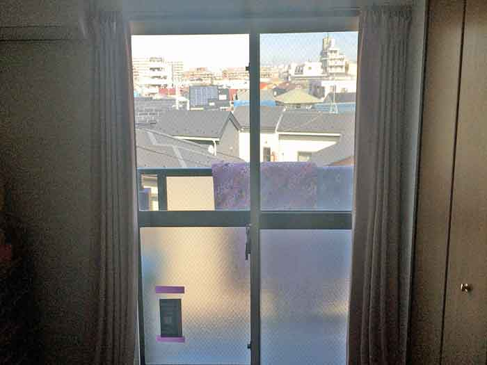 二重窓取付後